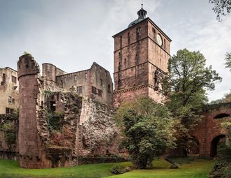 Die Schlossruine von Schloss Heidelberg