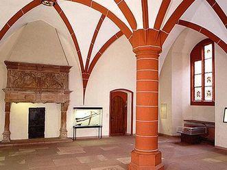 Interior of Knights' Hall in the Ruprecht Building at Heidelberg Palace. Image: Staatliche Schlösser und Gärten Baden-Württemberg, Arnim Weischer