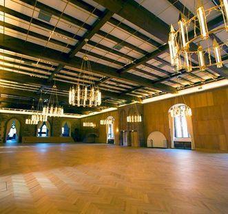 Interior of the King's Hall in the Ladies' Building at Heidelberg Palace. Image: Staatliche Schlösser und Gärten Baden-Württemberg, Achim Mende
