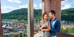 Besucher von Schloss Heidelberg