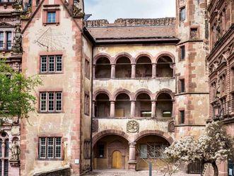 Schloss Heidelberg, gläserner Saalbau