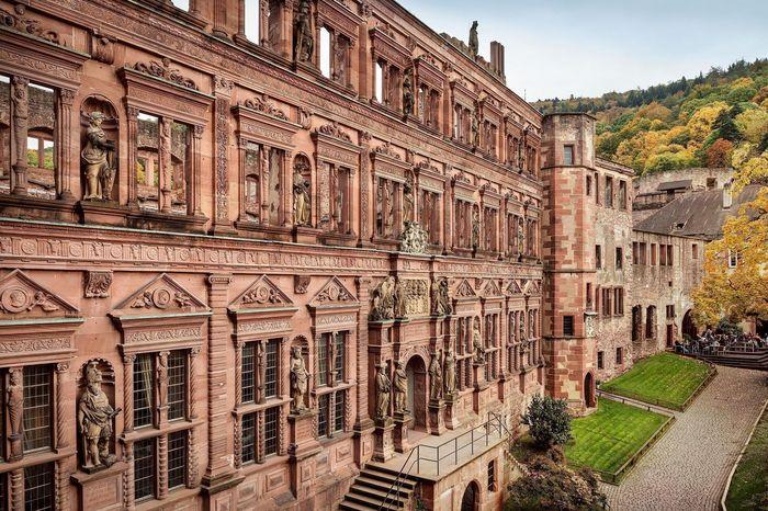 Ansicht des Ottheinrichsbaus von Schloss Heidelberg