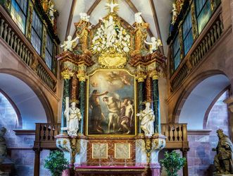 Schloss Heidelberg, Schlosskapelle, Nahaufnahme Altar