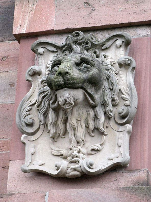 Heidelberg Palace, lion's head
