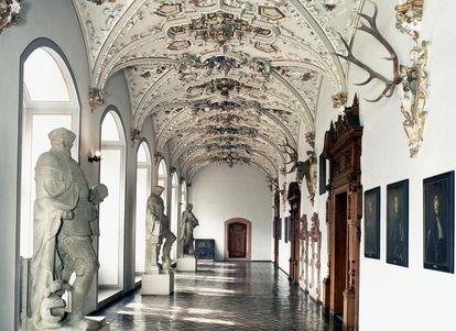 Ansicht des Flurs im Friedrichsbau von Schloss Heidelberg